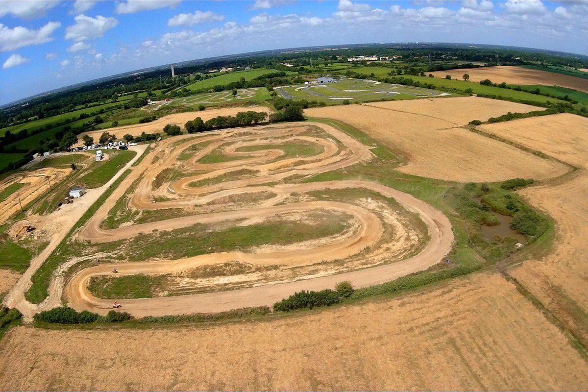 Photos aériennes  Moto-cross au château d'Olonne