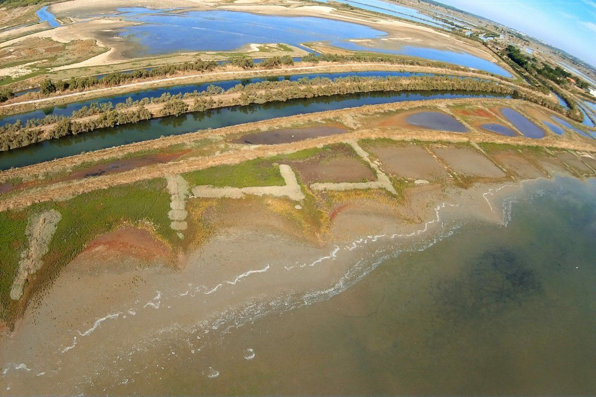 Photos aériennes des marais abandonnés d'Olonne