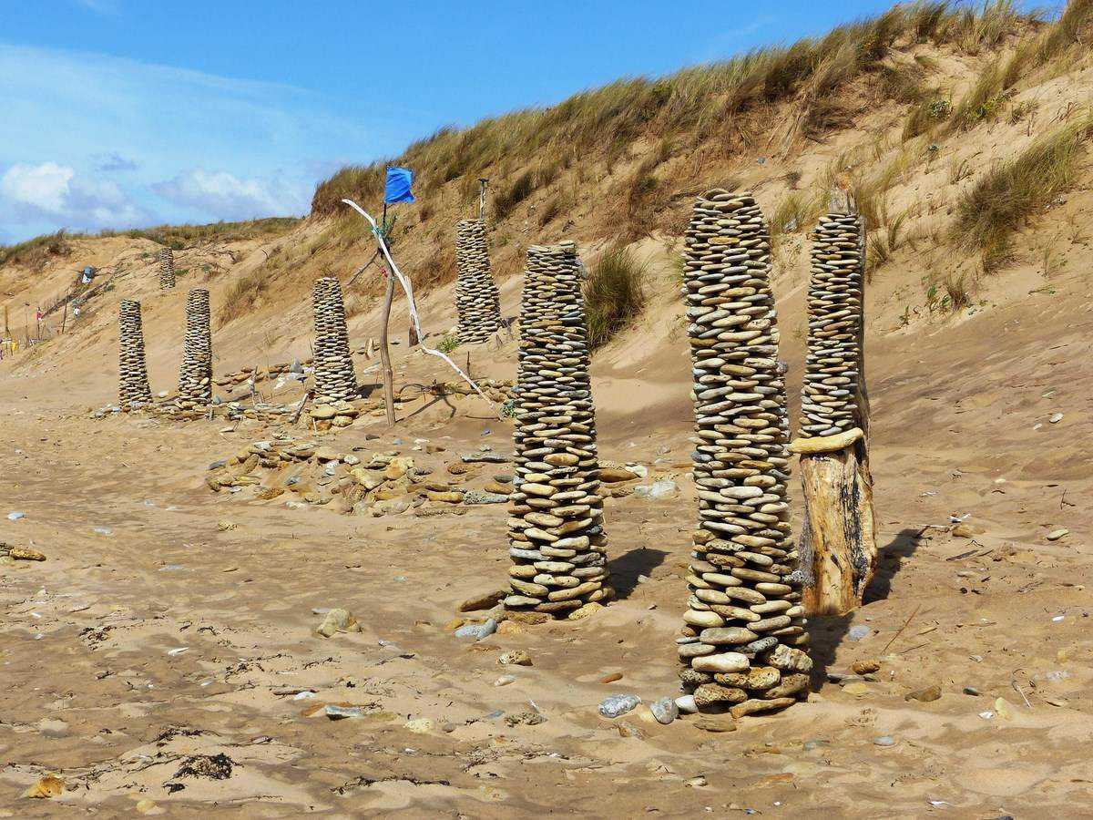 Beach art sur la plage de Sauveterre à Olonne sur Mer