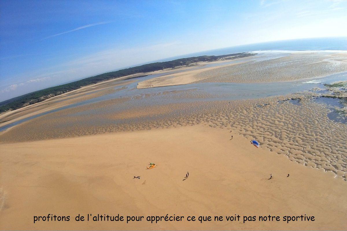 Photos aériennes  kitesurf sur la plage du Veillon Talmont Vendée