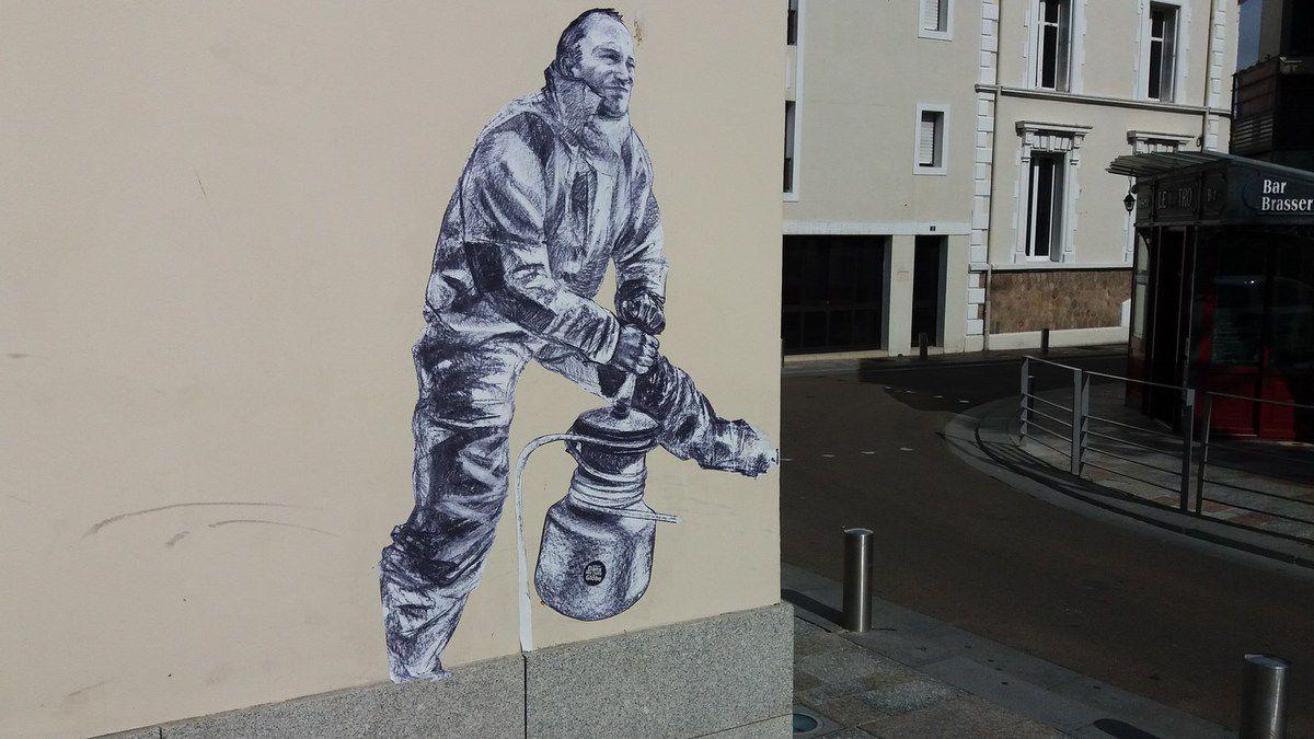 Street art : Fresques du Vendée Globe aux Sables d'Olonne