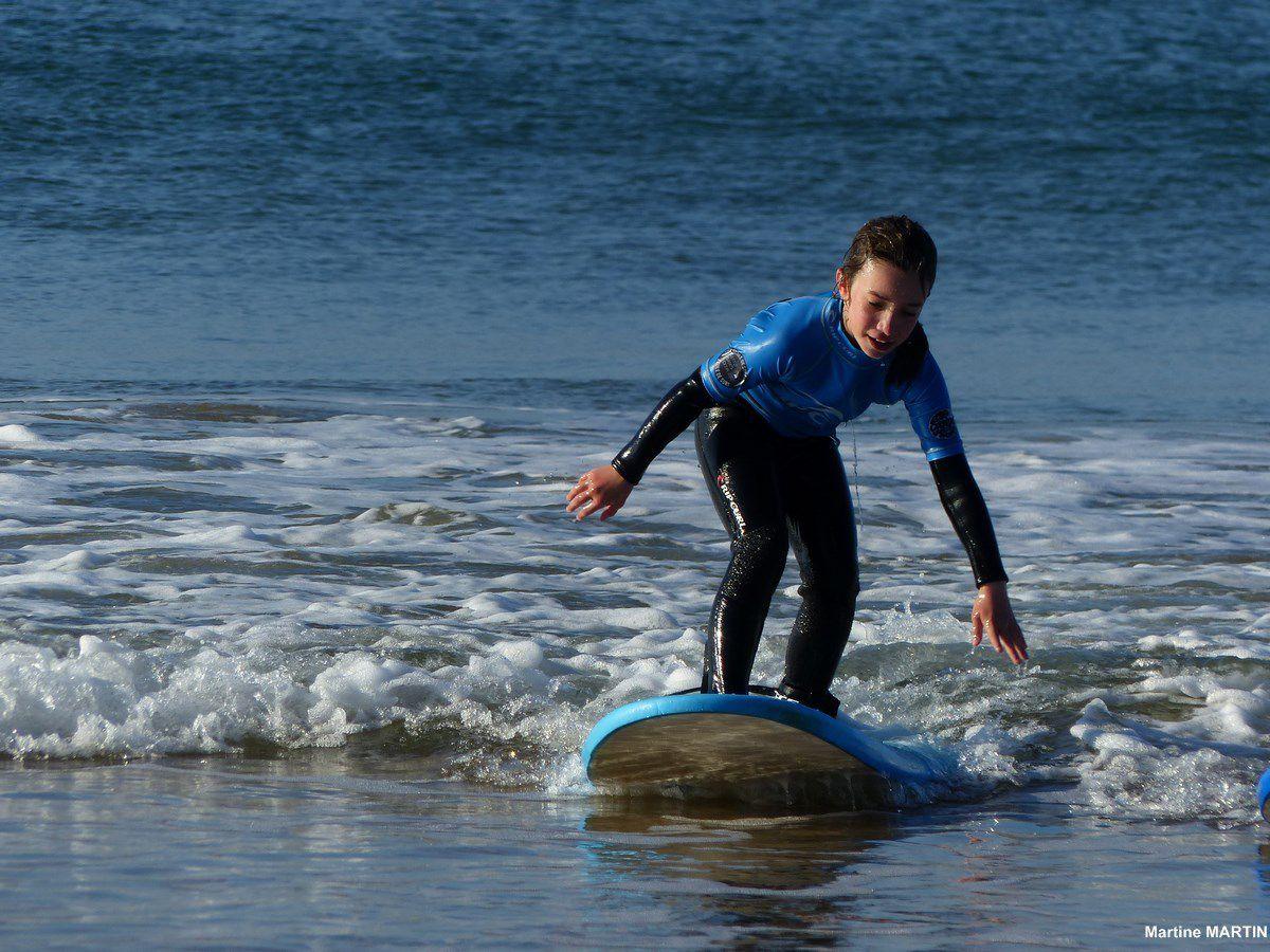 Première leçon de surf avec l'ISO