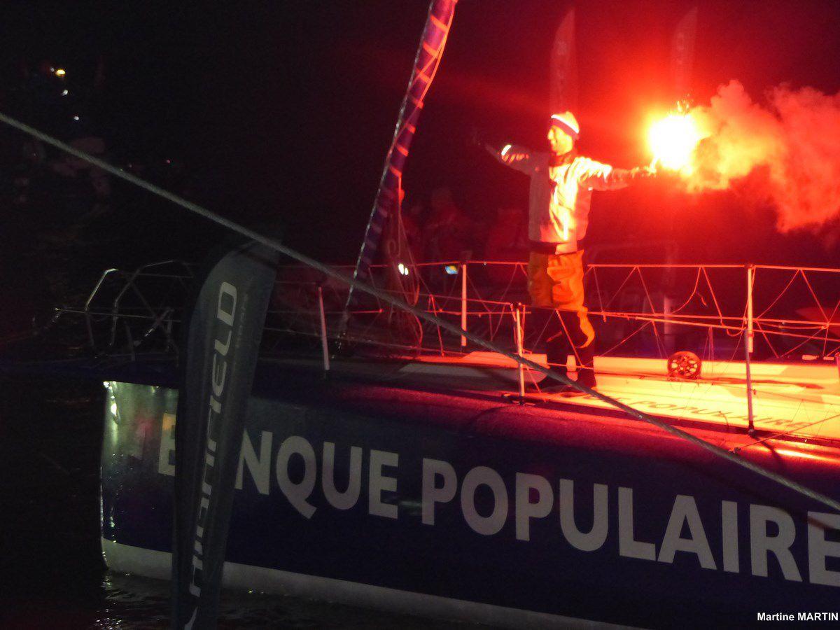 Vendée Globe : Arrivée du vaingueur Armel le CLEAC'H aux Sables d'Olonne