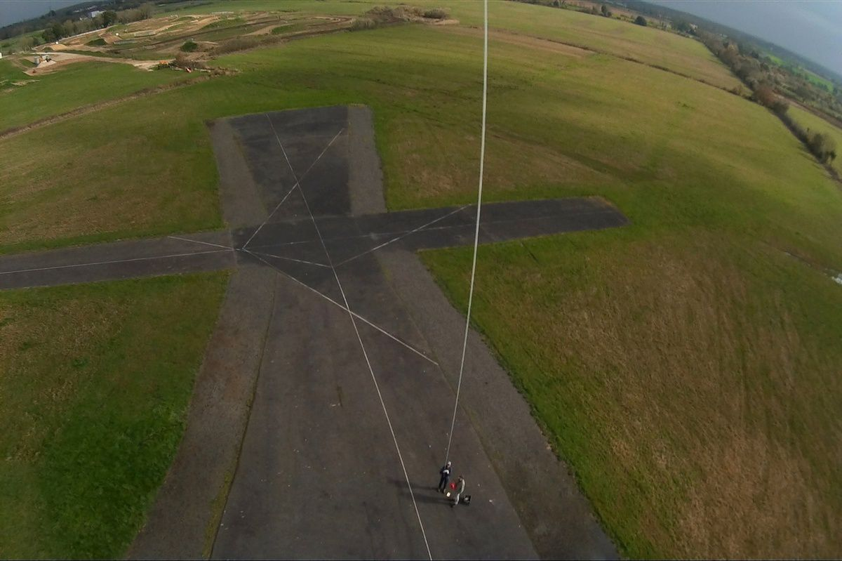 Photos aériennes du Coudriou au Château d'olonnes prises avec un cerf volant
