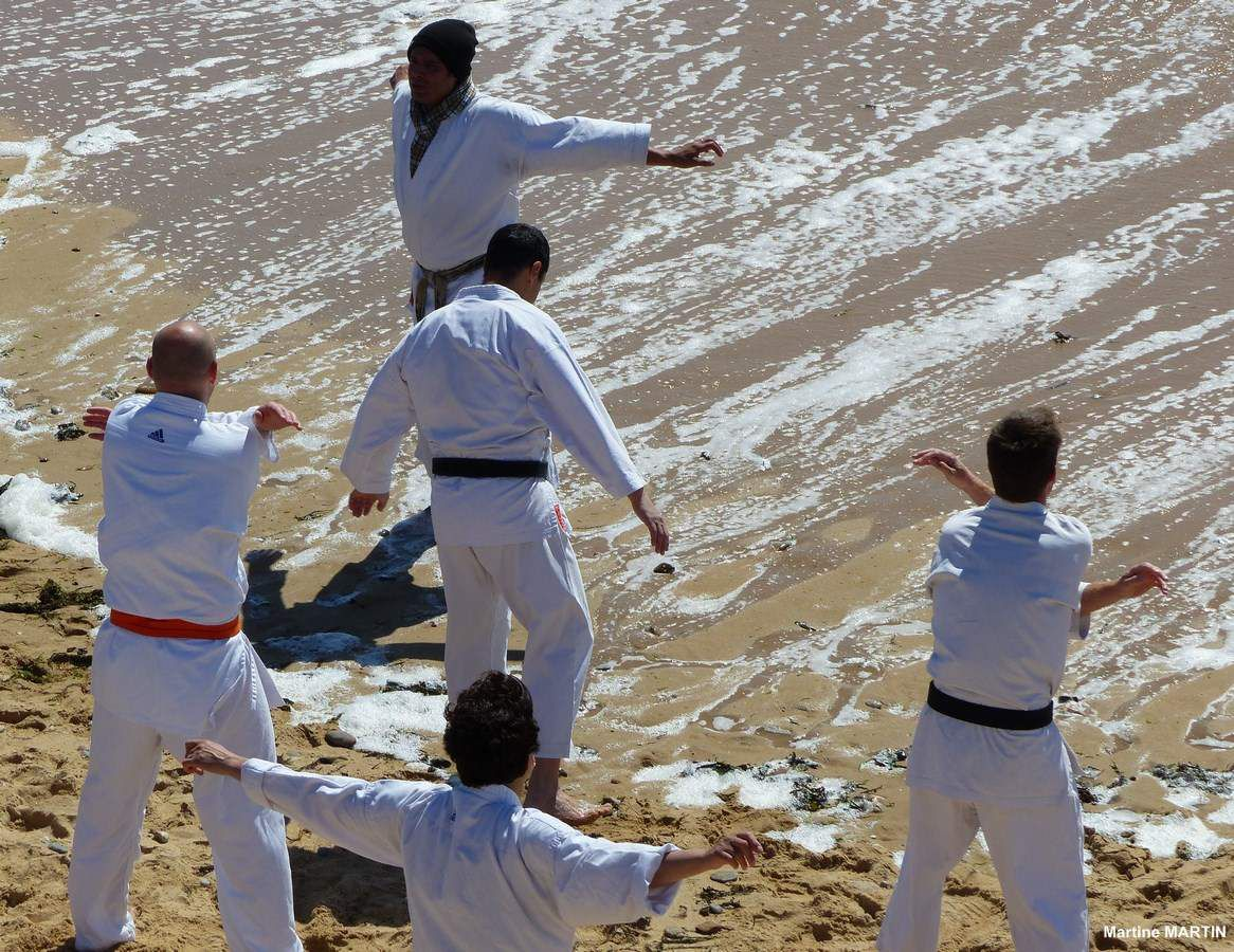 Boxe et judo sur la plage du Tanchet
