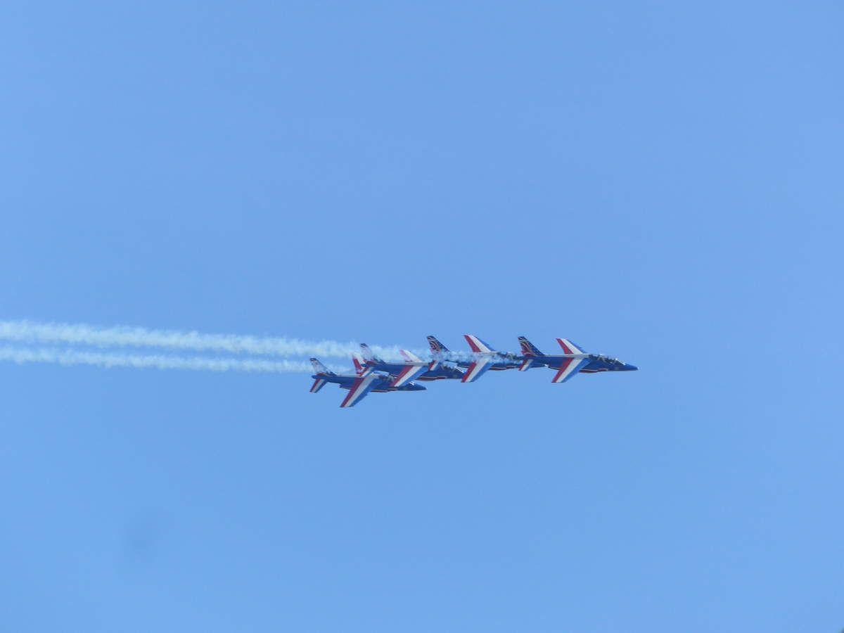 Entrainement de la patrouille de France aux Sables d'Olonne avant l'AirShow
