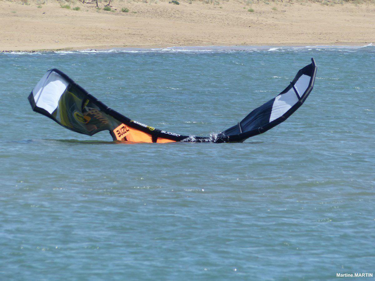 Kyte surf sur la plage du Veillon