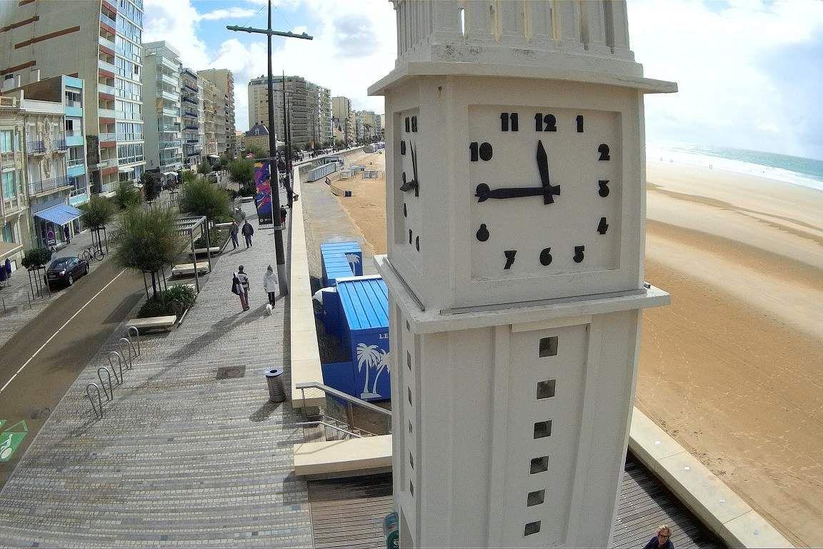L'horloge du remblai vue de haut