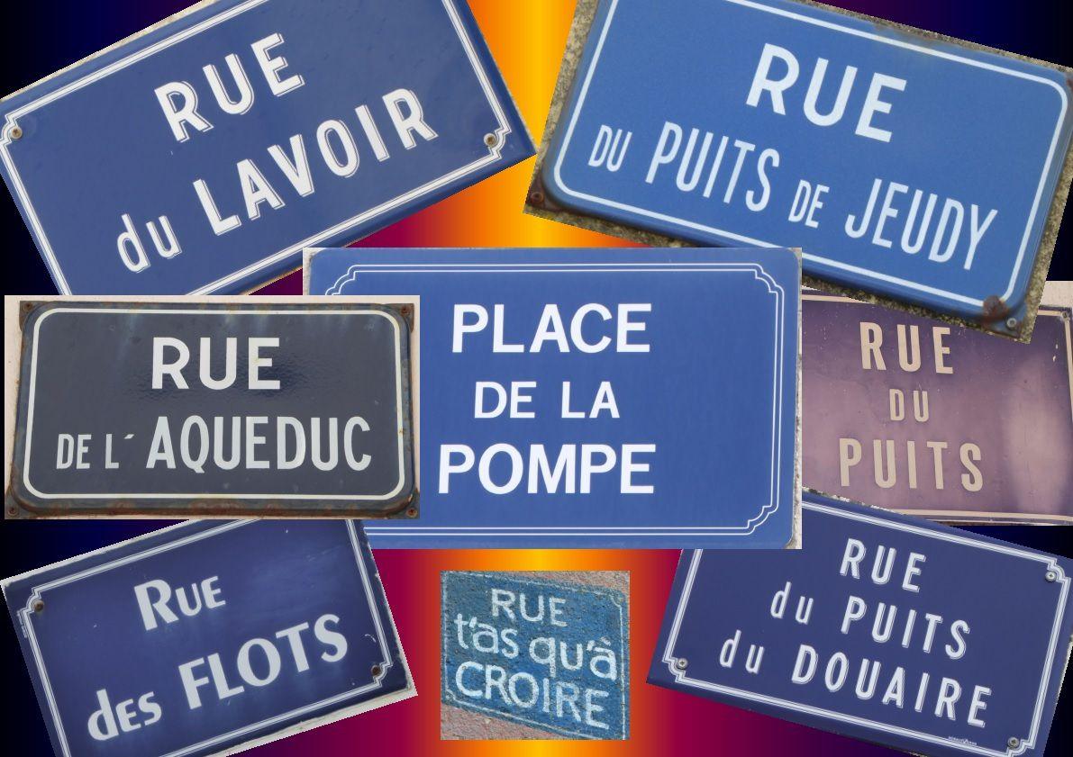 Les noms de rues de la Chaume aux Sables d'Olonne