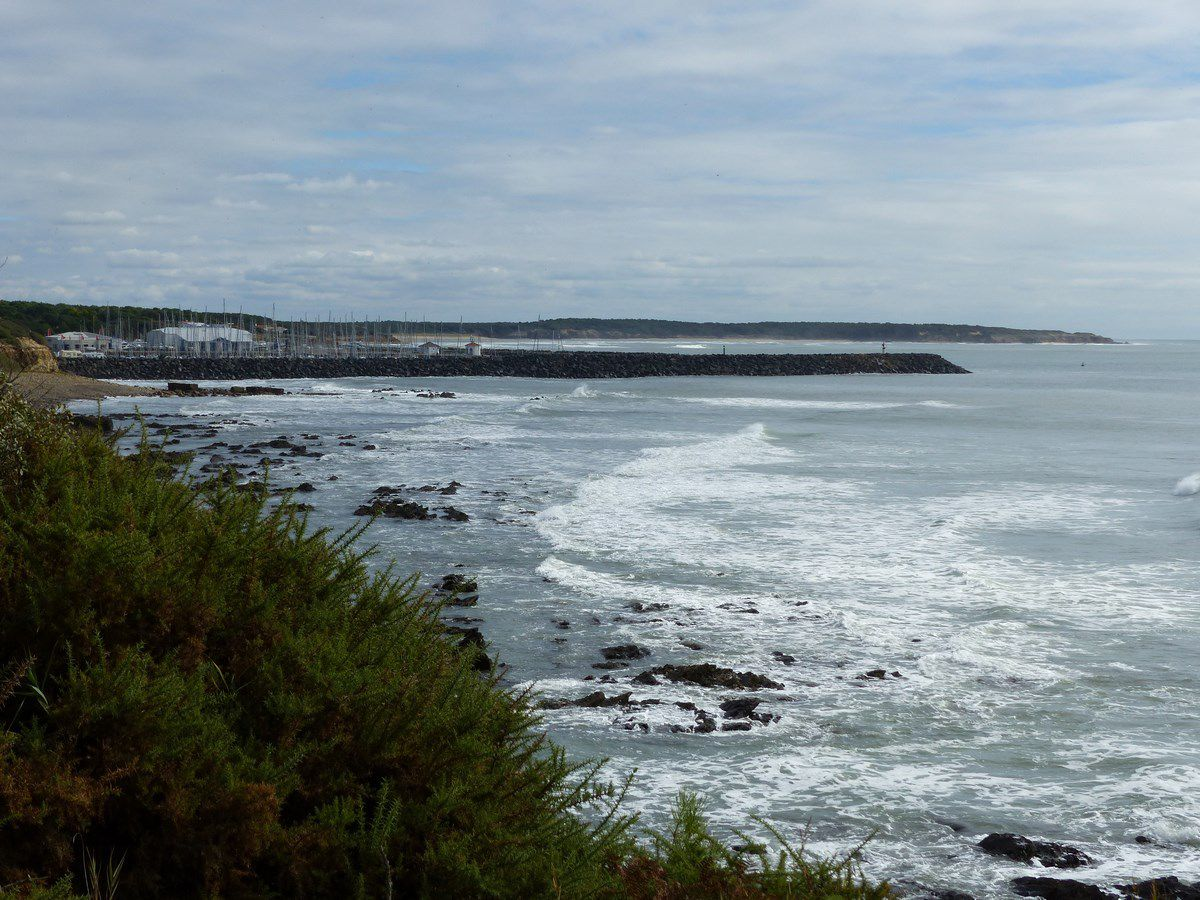 Le littoral de Talmont entre Le vivier de la mine et Port Bourgenay