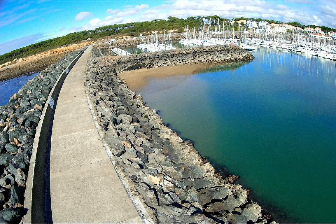 Port Bourgenay vu de haut