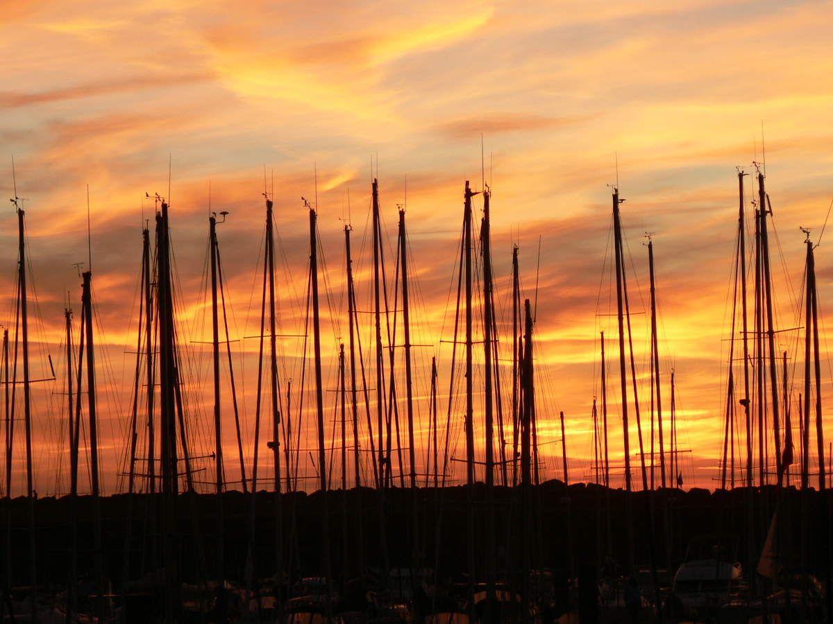 Couchers de soleil d'Octobre sur le littoral de Vendée