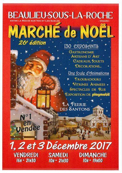 Marché de Noël 2017, Féérie des santons, vitrines annimée et playmobil / Beaulieu sous la roche