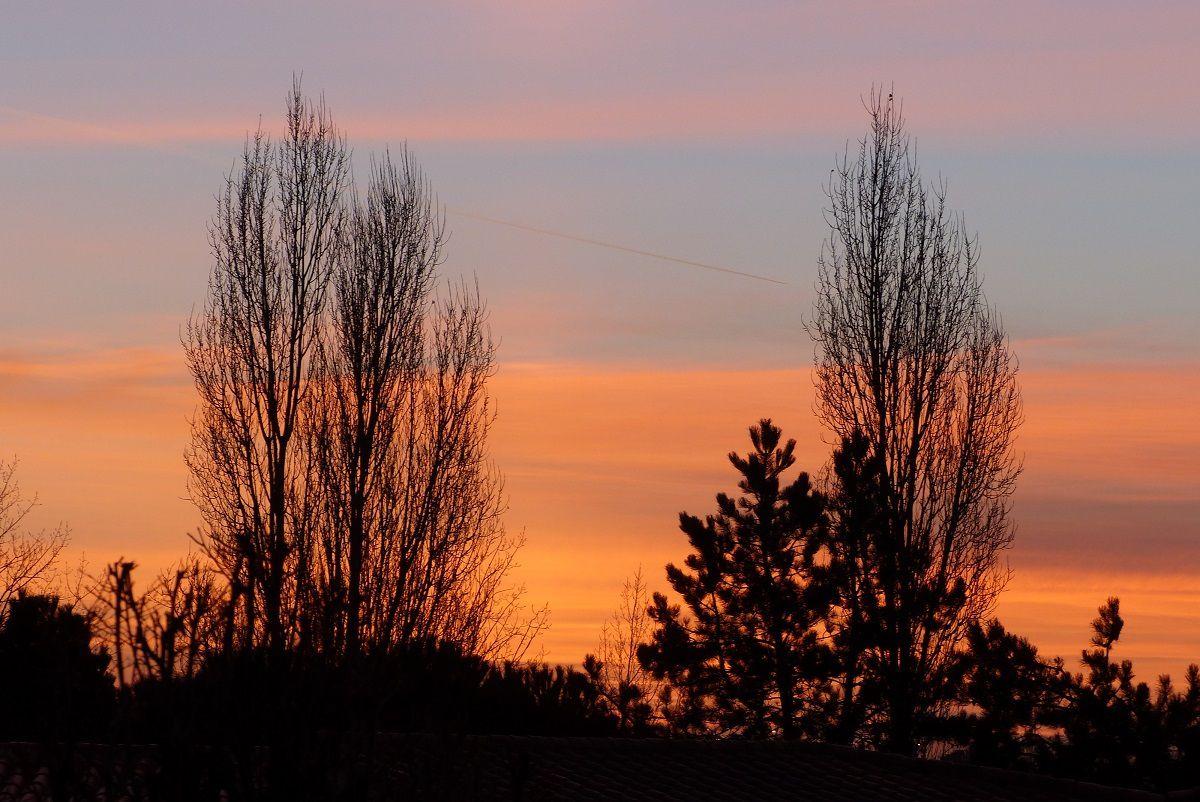 Lever de soleil de décembre au château d'Olonne