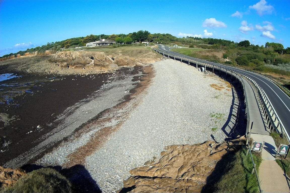 La passerelle de la baie de Cayola vue de haut