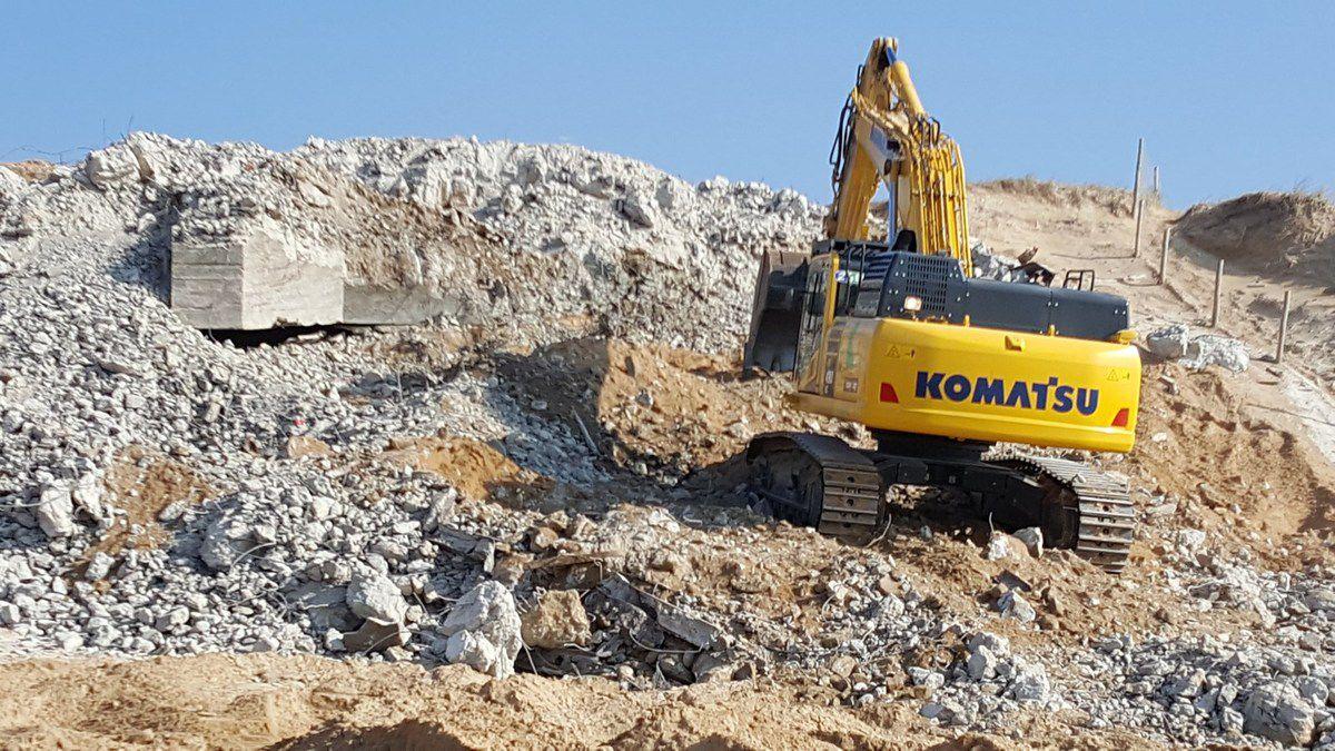 Le blockaus de la dune de la plage de Sauveterre n'est plus