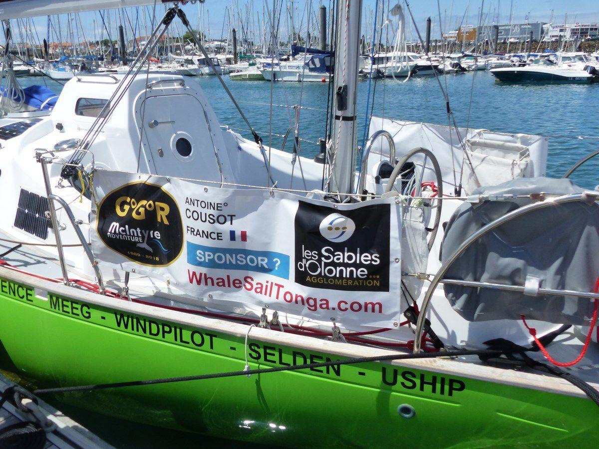 Voile : Golden Globe race sur le ponton de départ aux Sables d'Olonne