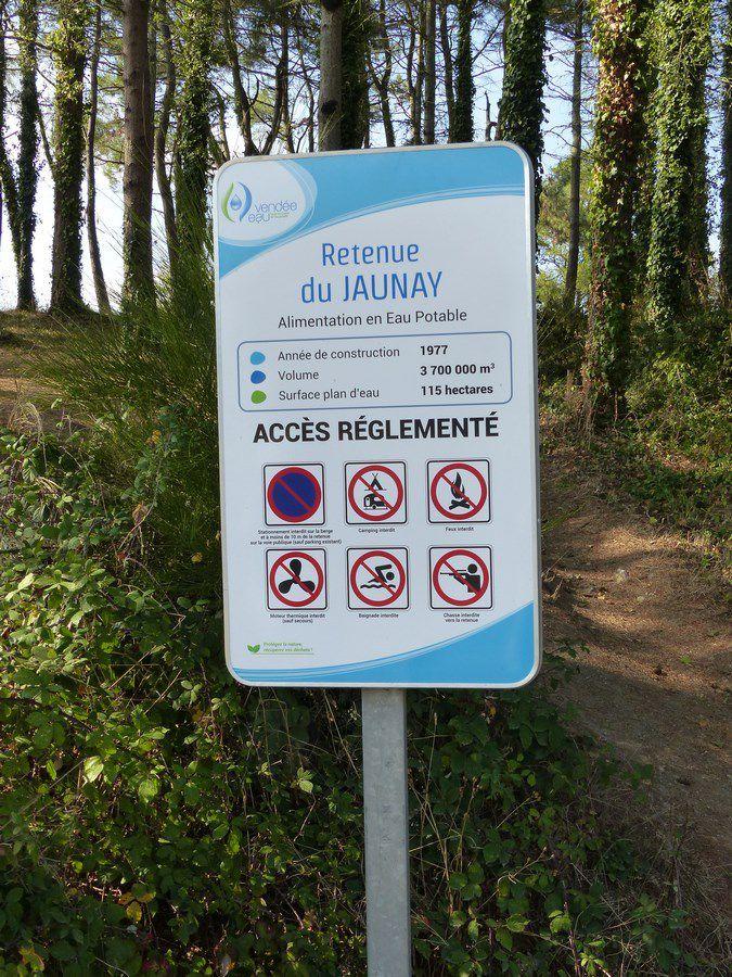 La retenue du Jaunay