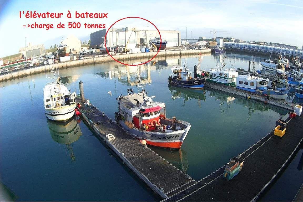 Le port de pêche des Sables d'Olonne vu de haut