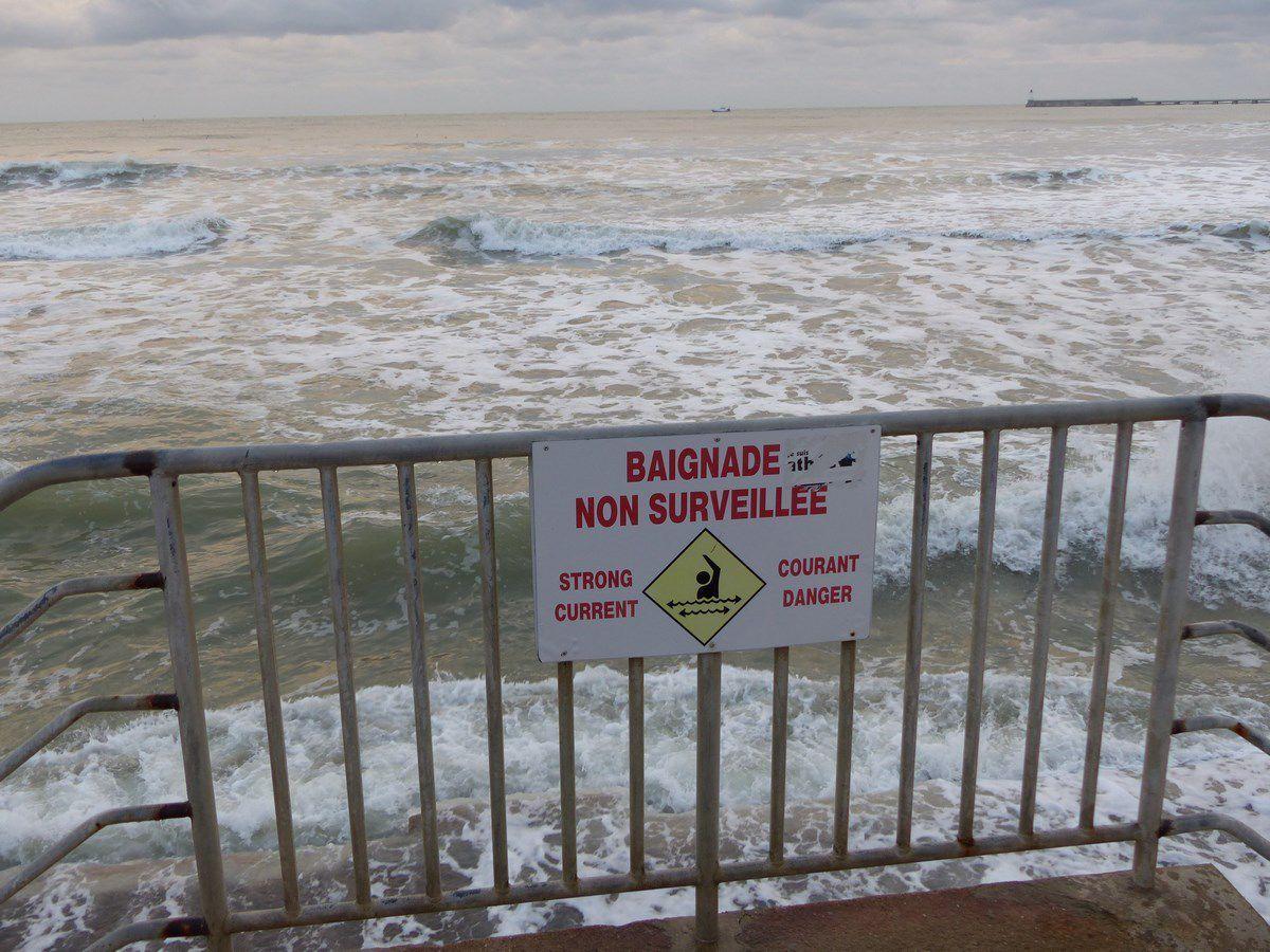 Grande marée Janvier 2019 aux Sables d'Olonne