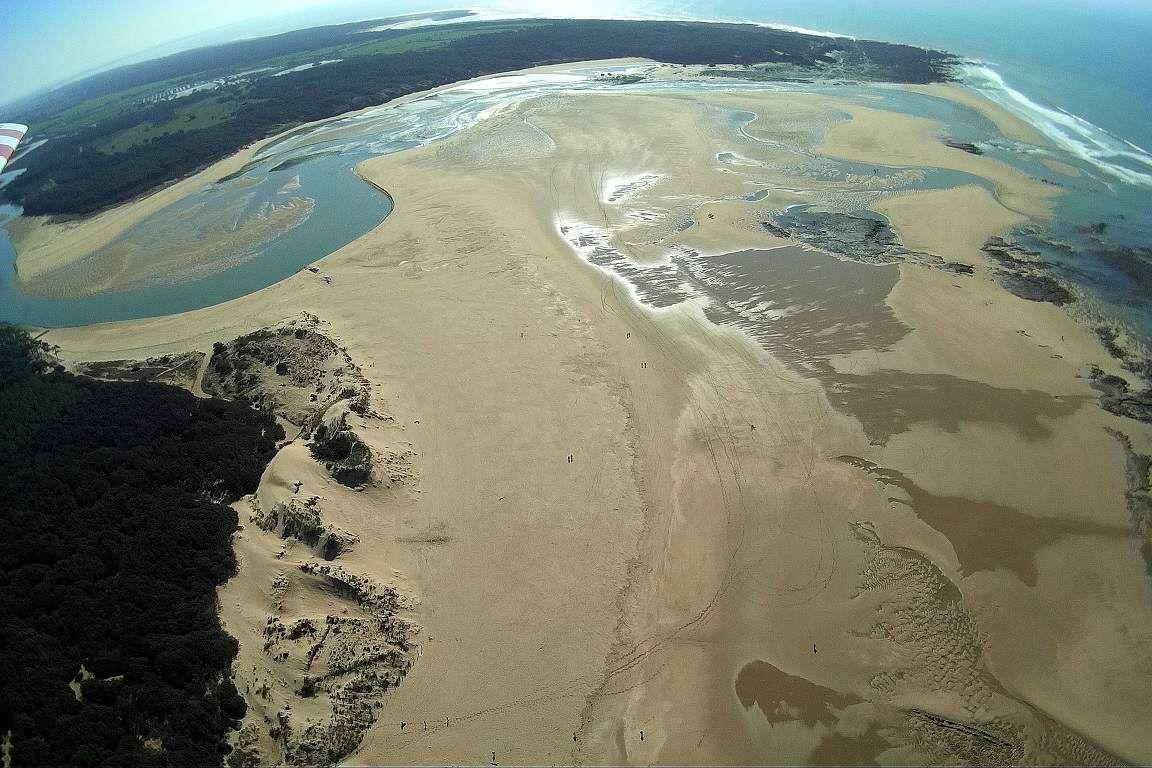 Photos aériennes du Veillon un jour de Grande marée