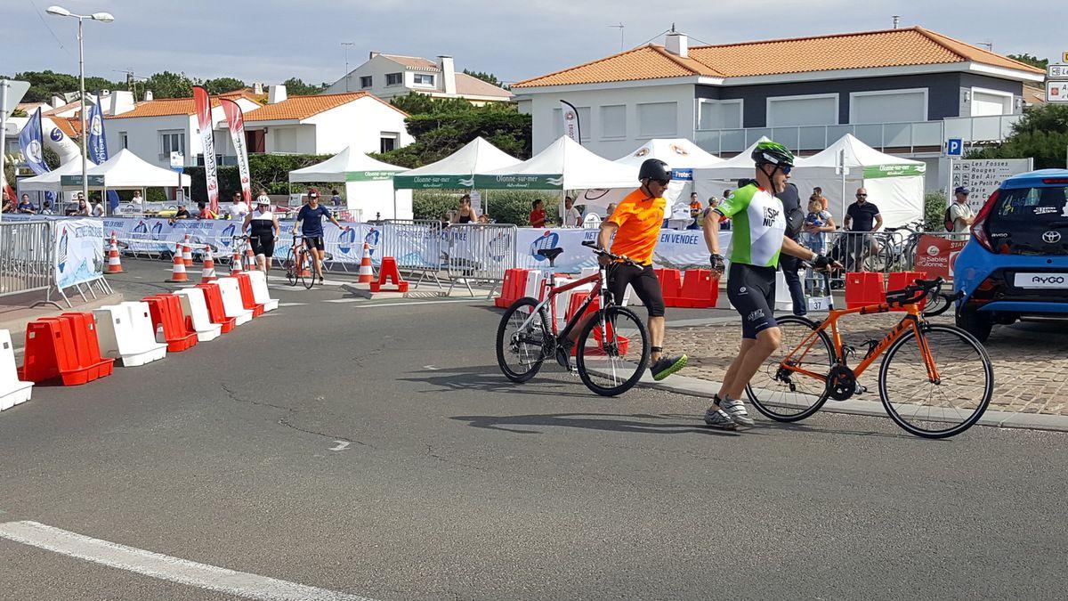 Epreuve de cyclisme le départ