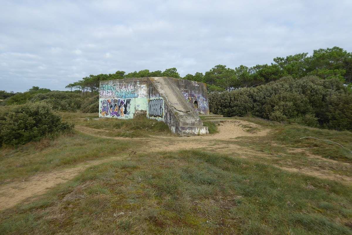 Vestiges du mur de l'Atlantique à Jard sur Mer