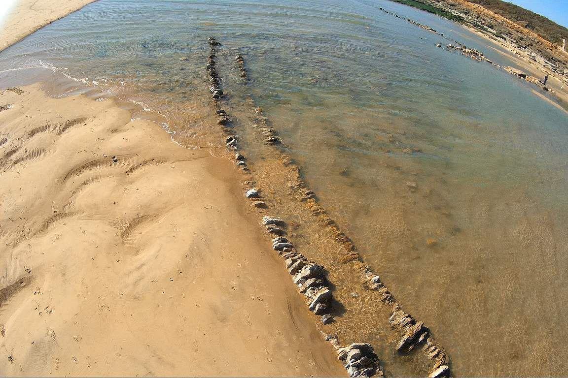 Photos aérienne d'une pêcherie du Veillon