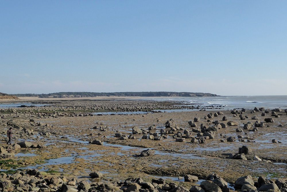 Petits rochers à Talmont Saint Hilaire