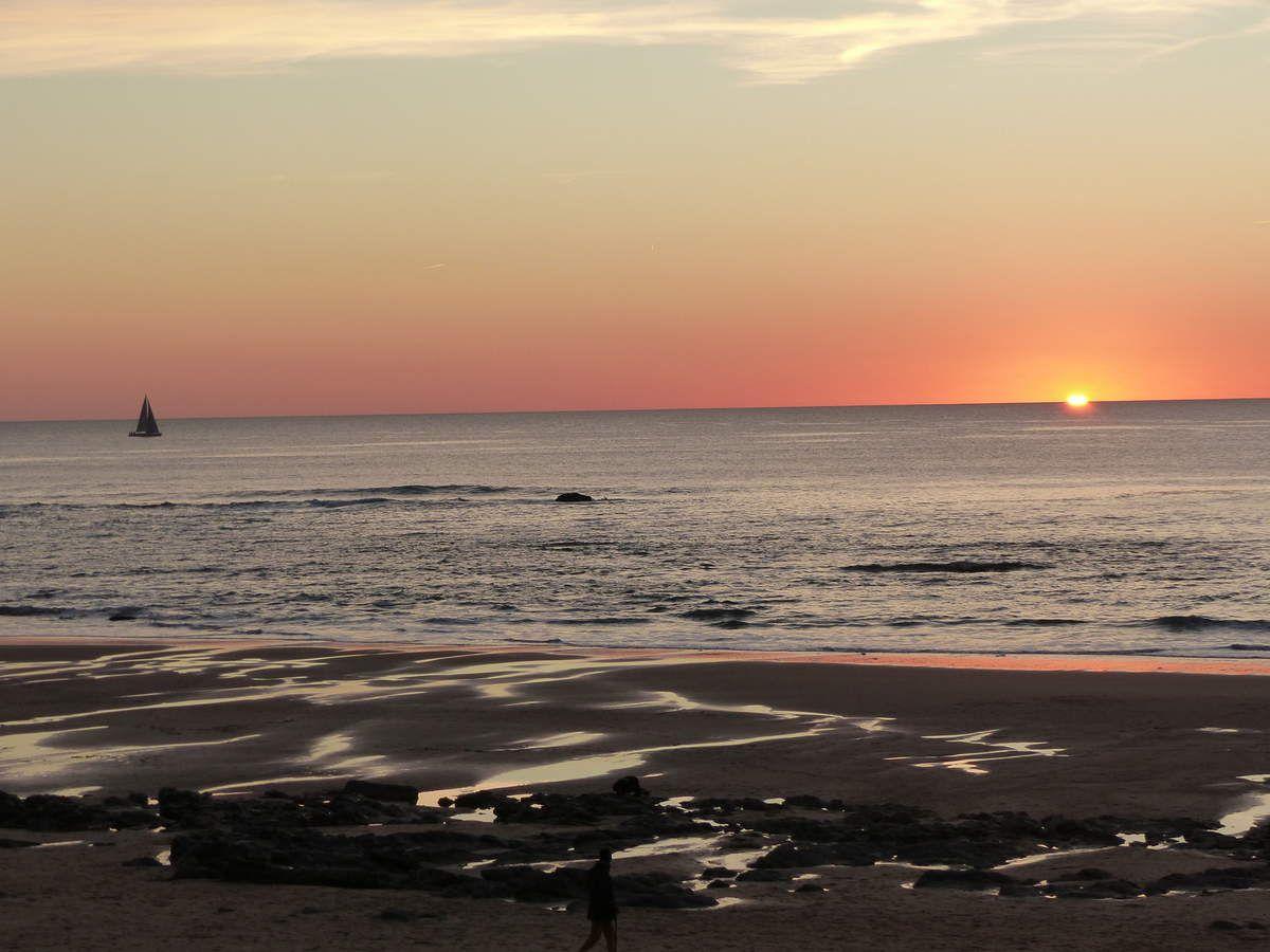 Coucher de soleil de Janvier aux Sables d'Olonne