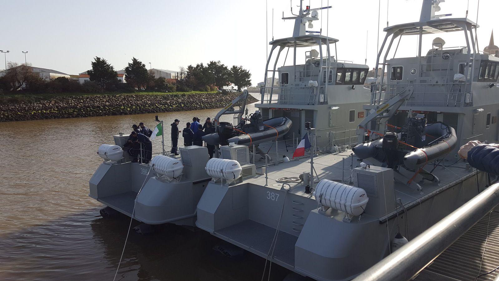 Patrouilleurs dans le port des Sables d'olonne