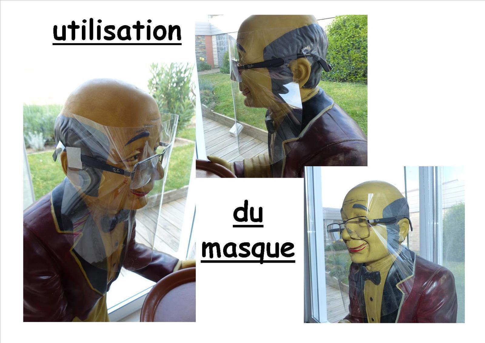 Tuto d'un masque visière facile à réaliser