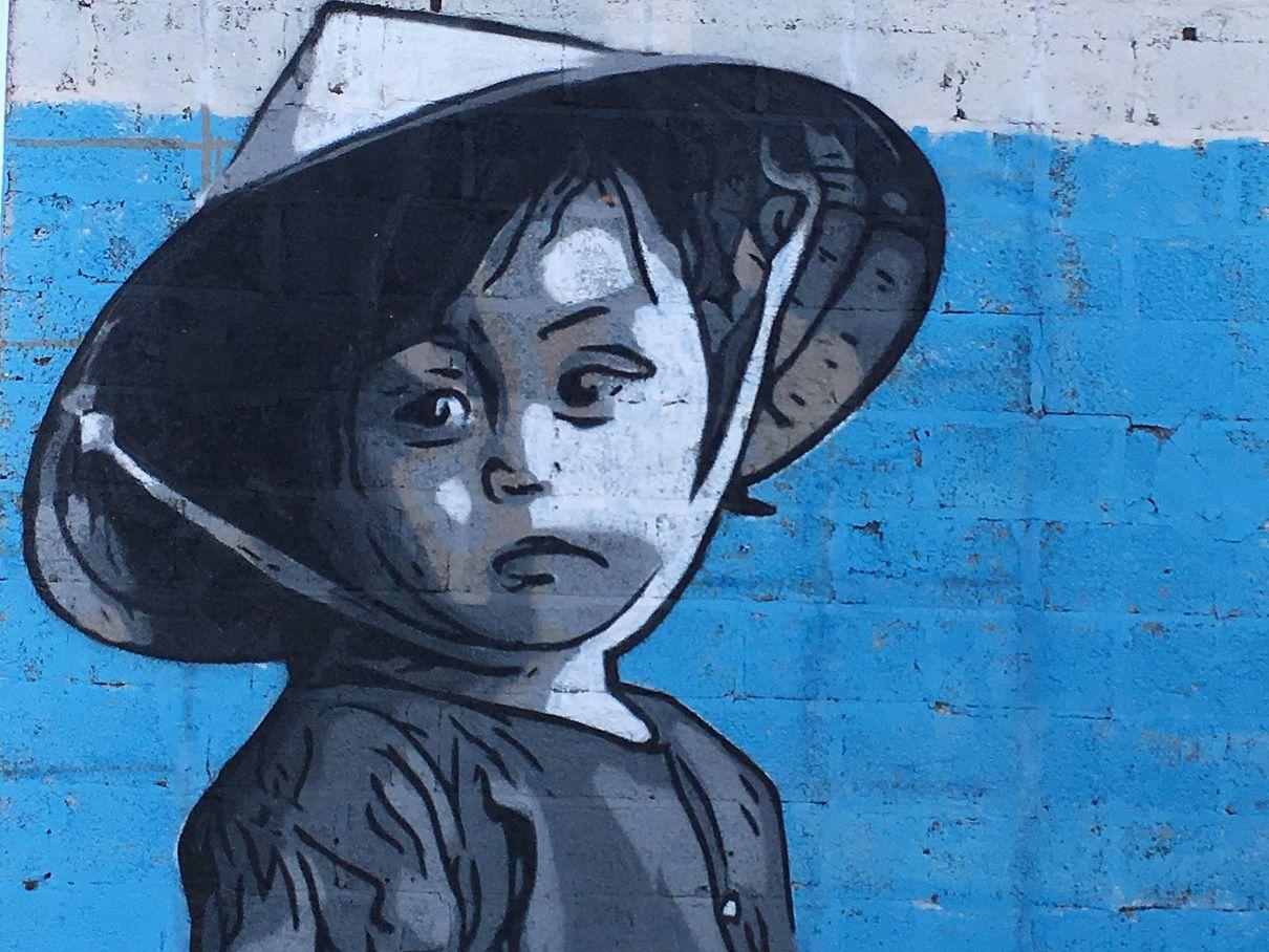 Réalisation d'une fresque sur le boulevard du Vendée Globe