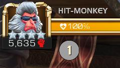 Hit monkey Mcoc 1 coup critique réussi marvel tournoi des champions