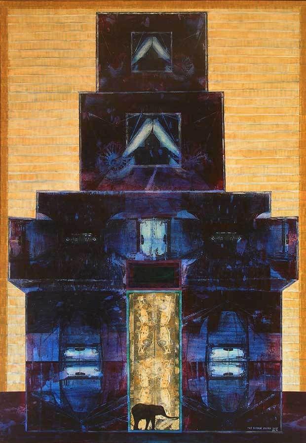 Yves Desvaux Veeska - Peintures habitées - Acrylique sur toile 130 x 89 cm - n°1168 - 1998 / 2014