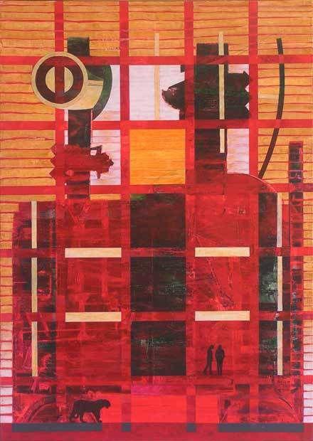 Yves Desvaux Veeska - Peintures habitées - Acrylique sur toile 92 x 65 cm - n°1224 - 1999 / 2014