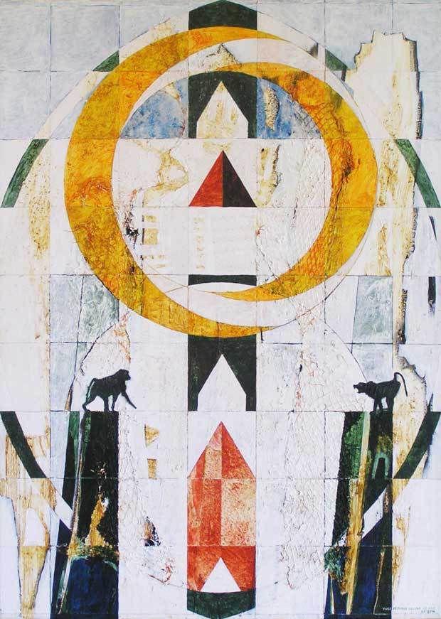 Yves Desvaux Veeska - Peintures habitées - Acrylique sur toile 92 x 65 cm - n°1266 - 2000 / 2014