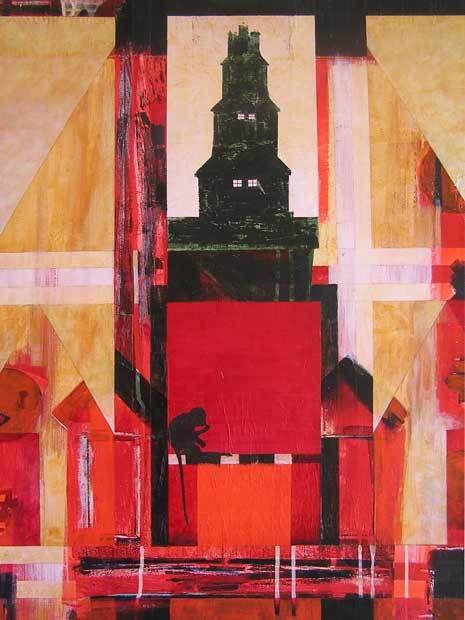Yves Desvaux Veeska - Peintures habitées - Acrylique sur toile 89 x 130 cm - n°1226 - 1999 / 2014