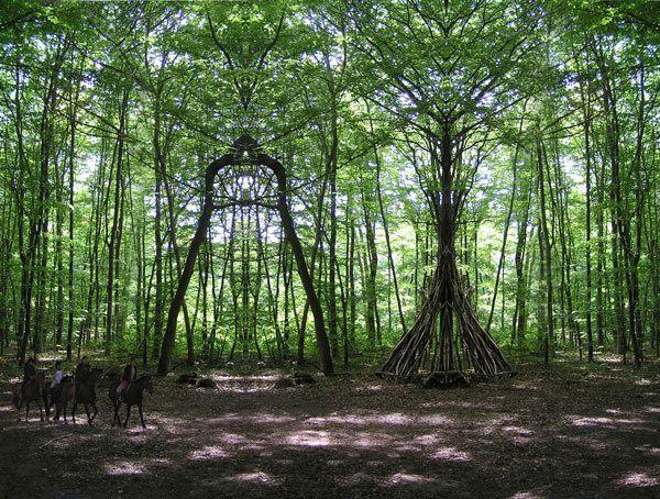 Arche végétale, à la Fondation Veeska, sur l'Ile de Pré Britenne.
