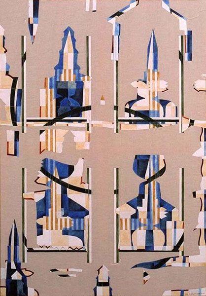 Légèreté ordonnée (II) - Acrylique sur toile 130 x 89 cm - n°1240 - 10/1999