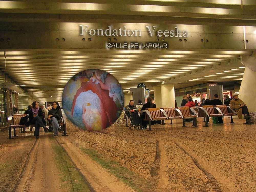 Fondation Veeska : salle de labour.