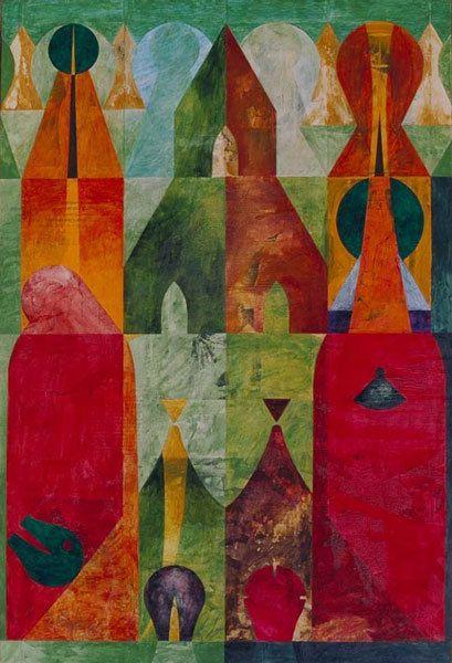 Le calme avec la tempête, acrylique sur toile 130 x 89 cm, n°1028, 04/1997 - Coll. Laurence Arvis