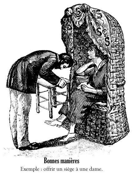 Bonnes manières - Exemple 2 : offrir son siège à une dame.