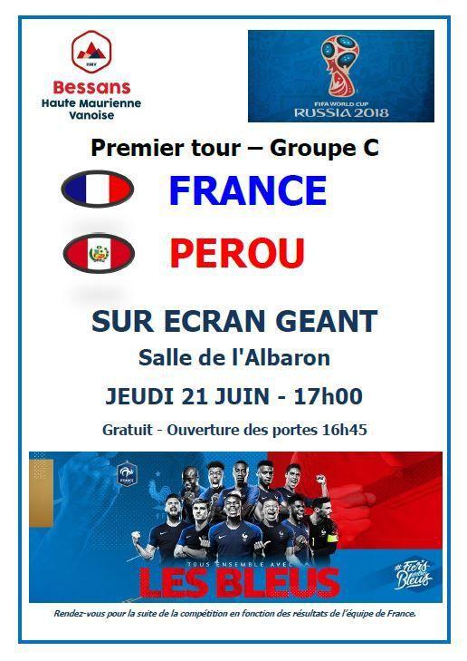 Bessans : France - Pérou sur écran géant !