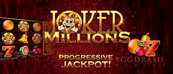 machine à sous mobile jackpot progressif Joker Millions développeur Yggdrasil
