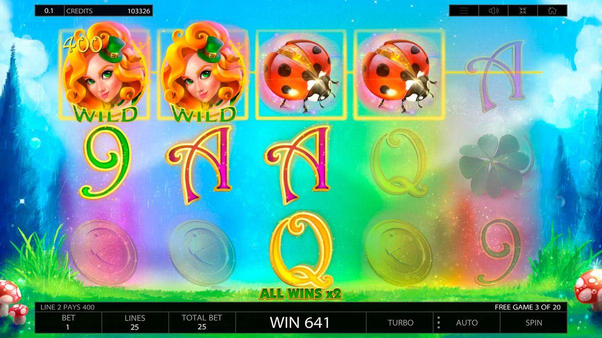 machine à sous mobile Lucky Lands logiciel Endorphina