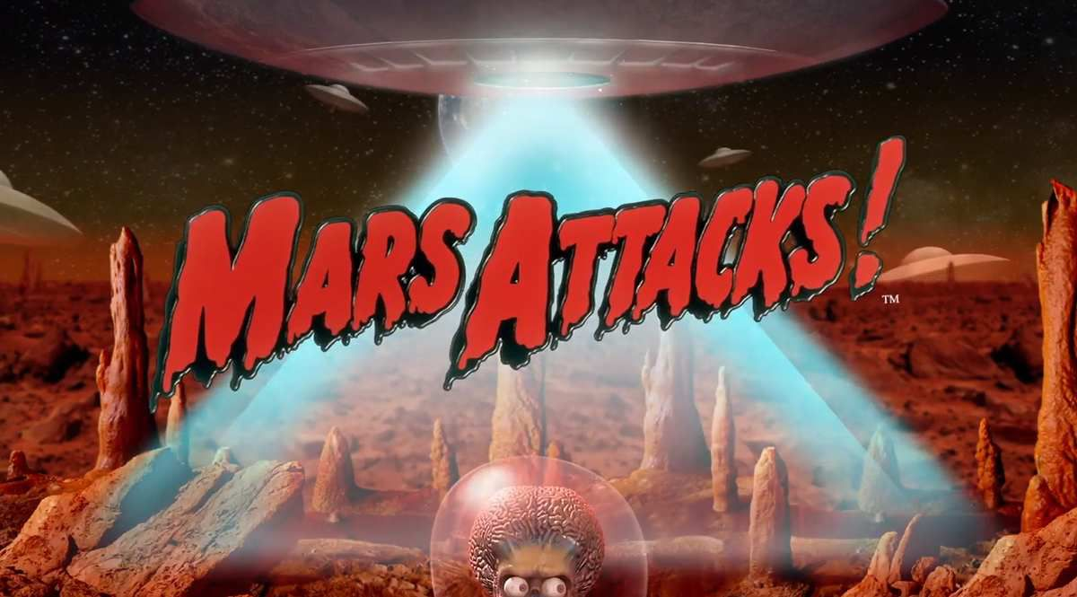 machine à sous mobile Mars Attacks logiciel Blueprint Gaming