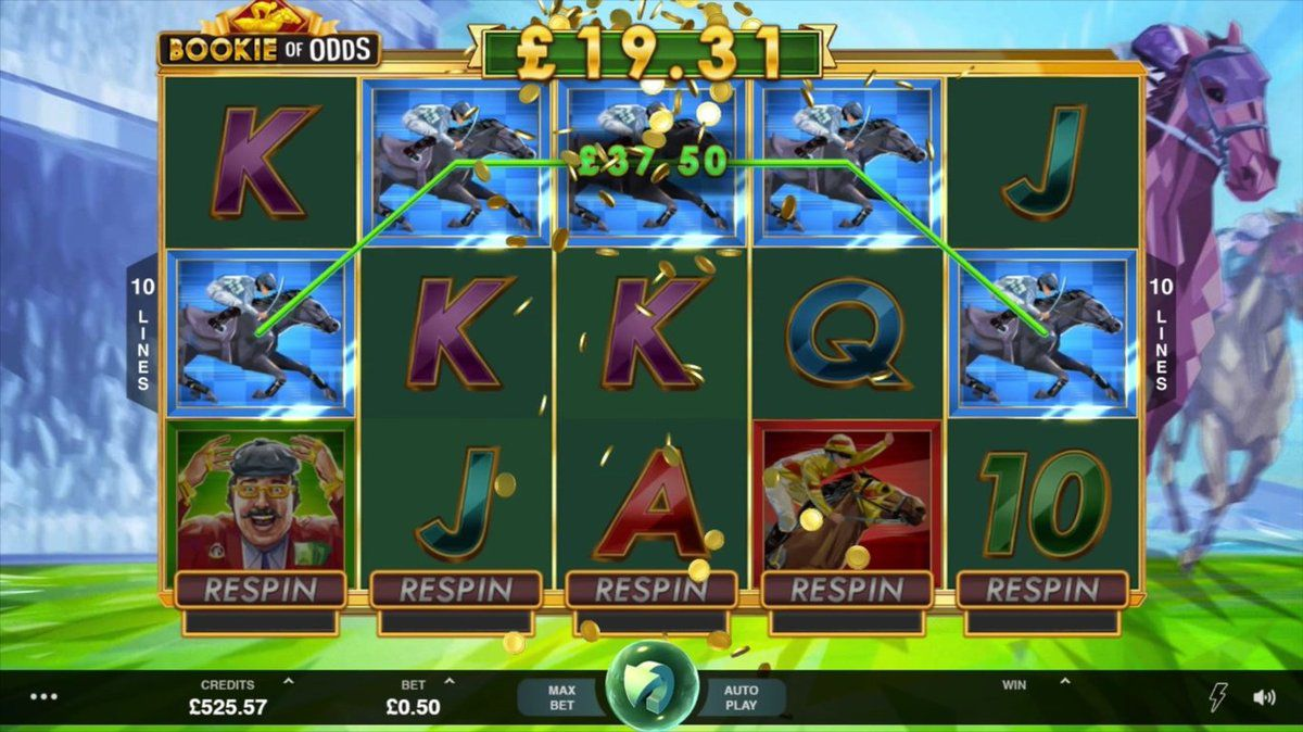 machine a sous bookie of odds fonction respin microgaming