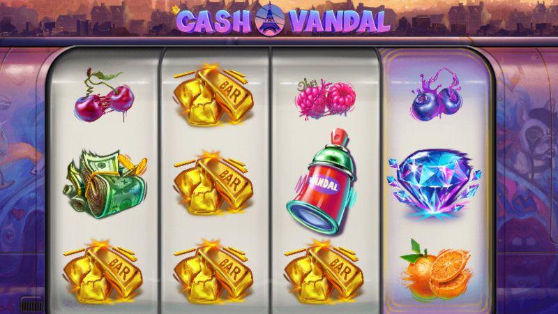 machine à sous Cash Vandal 4 rouleaux développeur Play'n Go