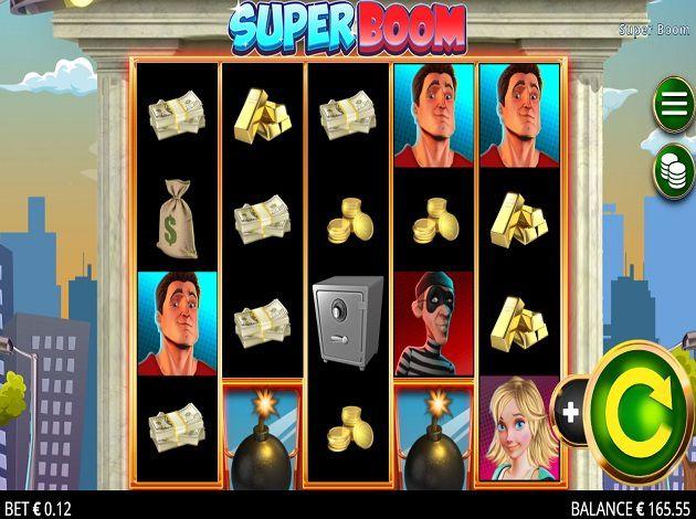 machine à sous Super Boom grille de jeu